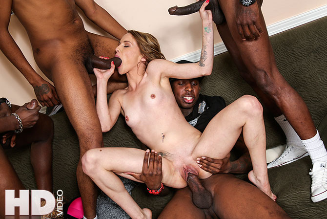 Teen Interracial Dp Gangbang
